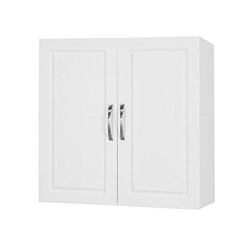 SoBuy® FRG231-W Hängeschrank mit Zwei Türen Wandschrank Badschrank Küchenschrank Medizinschrank...