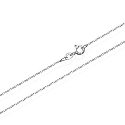 NKlaus Silber 55cm Ankerkette 925er Sterlingsilber Kette Rund massiv Collier 1,10mm breit 8897