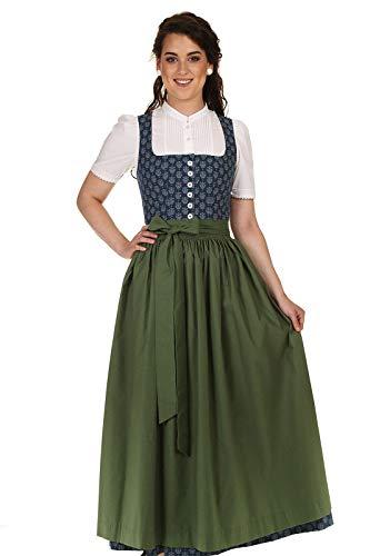 Hammerschmid Damen Dirndl lang Baumwolldirndl Chiemsee 1922220 Rocklänge 92cm blau Gr.42