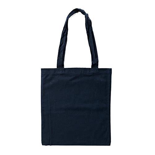 Bags by Jassz Stoffbeutel aus Baumwolle mit langen Henkeln (ca. 38 x 42 cm, T-dunkelblau)