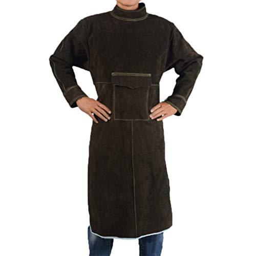 ATGTAOS lasser coltrui lange mouwen schort koeienhuid beschermende kleding slijtvast en hoge temperatuur bestendig