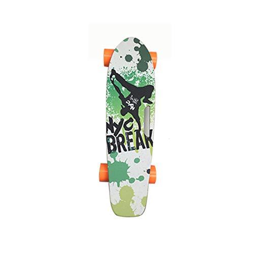 Tornado elektrisch Skateboard mit Fernbedienung, 18km/h Höchstgeschwindigkeit, 10km Max Range, Dual 500 W Motor, 5A Grade Maple mit aktualisiertem Board,3