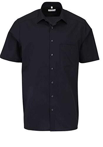 MARVELIS Comfort Fit Hemd Halbarm mit Brusttasche schwarz, Gr. 44