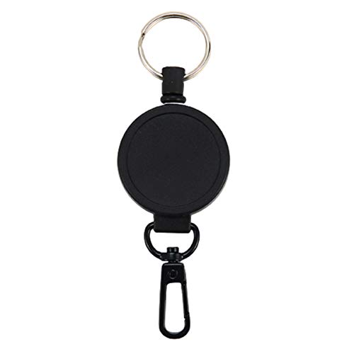 Asdf586io Cute and Charm Keychains, Portable Retractable Keychain Anti-lost Resilience Wire Rope Keyring Key Holder - Round