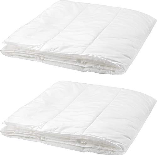 Ikea Myskgräs Twin Lightweight Duvet Insert, Comforter, Cooler, White, Set of Two, Twin