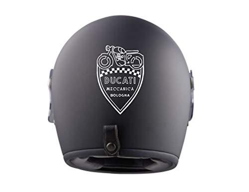 myrockshirt 2X Ducati Meccanica Helmaufkleber Helm Motorrad Aufkleber Sticker Decal Profi-Qualität ohne Hintergrund Bike Tuning