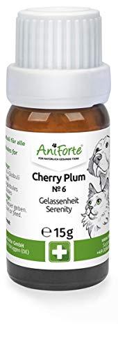 AniForte Cherry Plum Globuli Gelassenheit für Hunde, Katzen, Haustiere - Bachblüten zur Beruhigung bei unterdrückten Ängsten, unkontrollierten Reaktionen und Unruhe