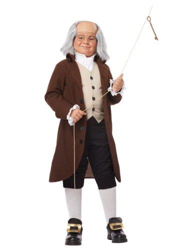 California Costumes Colonial Man/Benjamin Franklin Child Costume, X-Large