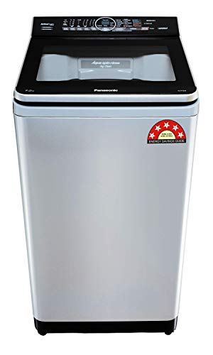 Panasonic Econavi 7 Kg 5 Star Built-In Heater Fully-Automatic Top Loading Washing Machine (NA-F70V9LRB, Silver, Stain Master+)