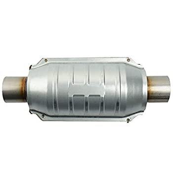 MAYASAF 2  Inlet/Outlet Universal Catalytic Converter with O2 Port & Heat Shield  EPA Compliant
