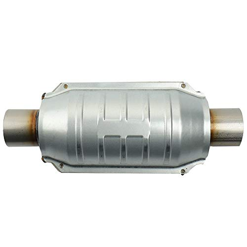 """MAYASAF 2"""" Inlet/Outlet Universal Catalytic Converter, with O2 Port & Heat Shield (EPA Compliant)"""
