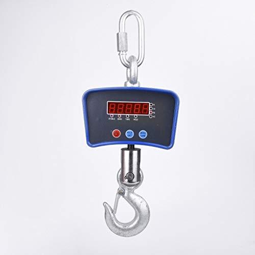 Draagbare elektronische haakweegschaal 300 kg - 1000 kg draagbare weegschaal 1 ton voor industrieel gebruik (maat: XXL)