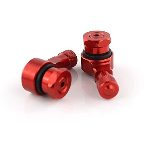 Motocicleta Delantero y Trasero CNC Rueda de la válvula de neumático sin límites Tallos de 90 Grados 11.3mm Ajuste para HON-DA CB 1000 R/RA CB1000R (Color : Red)