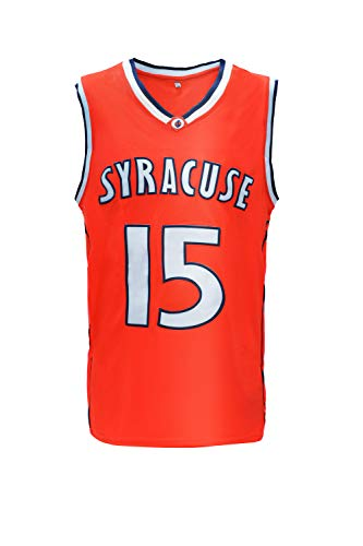 Nuker Mens Basketball Jersey Syracuse University #15 Retro Embroidered (L,Whtie)