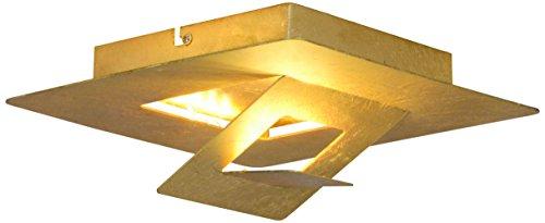 Näve Leuchten Goldleafe Plafonnier LED en métal Doré 24 x 24 x 10 cm