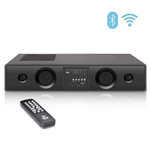 Pyle 3D Wireless Bluetooth WiFi Soundbar Speaker -2019 Premium 300W 3D Surround Audio Sound Bar System w/ 5...