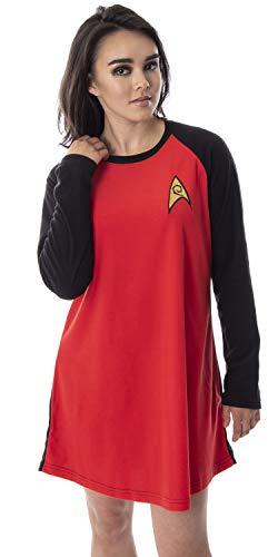 Star Trek Original Series Women's Juniors Costume Raglan Sleep Shirt Nightgown Pajama Top (Uhura, SM) -  Intimo, STK0036RGLW-SM