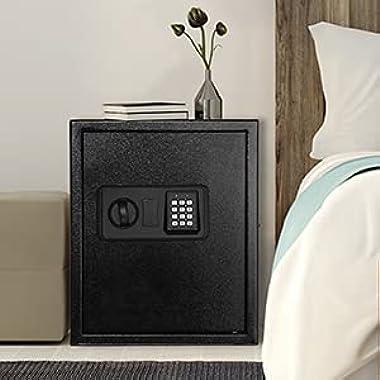 TACKLIFESKL Safe Box 1.8 Cubic Feet Home Safe Digital Lock Box W/ Instruction Light for Money Safe Cash Jewelry Passport Docu