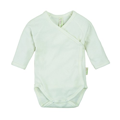 Sense Organics YGON L/S - Body - uni - Manches longues - Mixte bébé, Blanc (Rfd Ecowhite 000010), 6 mois