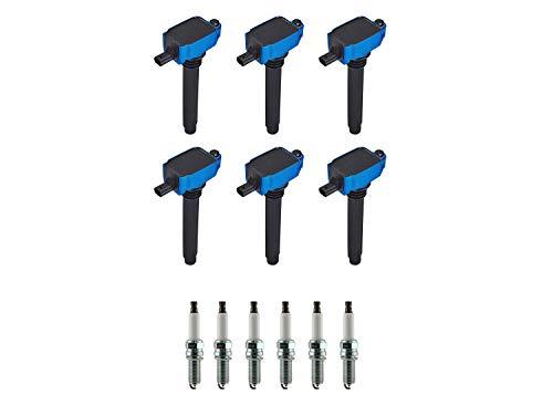 ENA Set of 6 Ignition Coil Pack and Set of 6 Platinum Spark Plug Compatible with Ram Dodge Chrysler 1500 3.6L V6 Challenger 3.6L V6 300 3.6L V6 Replacement For UF648