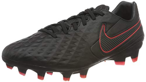 Nike Legend 8 PRO FG, Scarpe da Calcio Unisex-Adulto, Black/Dk Smoke Grey-Chile Red-Chile Red, 45 EU