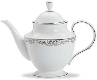 Lenox Coronet Platinum Bone China Teapot