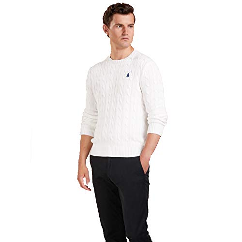 Ralph Lauren Maglioni Cable-Knit in Cotone (XXL, Old White)