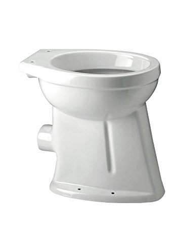 TrendLine Stand-Flachspül-WC Alpha weiß erhöht 47,5 x 35,5 x 49,5 cm Keramik