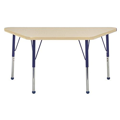 ECR4Kids elr-14826-mmnv-tb Mesa T-mould 61 x 121,9 cm Trapezium-activiteit school tafel peuters, poten W/bal glijden, in hoogte verstelbaar 38,1 cm 23