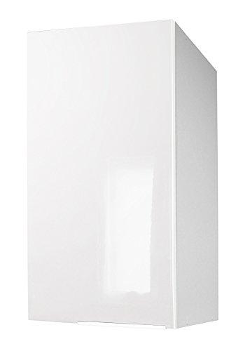 Berlenus CP4HB - Mobile Alto da Cucina con un'anta, 40 x 34 x 70 cm, Colore: Bianco Brillante