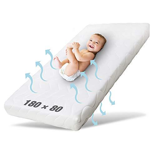 Ehrenkind® Kindermatratze Pur | Baby Matratze 80x180 | Babymatratze 80x180 aus hochwertigem Schaum und Hygienebezug