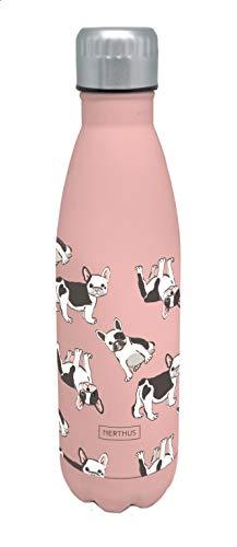 Nerthus FIH 513 Termo Doble Pared para frios y Calientes Diseño Perros de Acero Inoxidable 500 ml Libre de BPA, 18 8