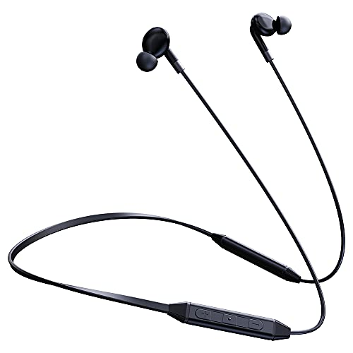 LANDMARK LM BH92 Wireless Neckband Bluetooth Earphone with Mic,Noise Cancellation Headset for All Smartphone - Black