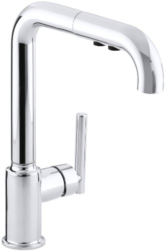 KOHLER K-7505-CP Purist Kitchen Sink Faucet, One Size, Polished Chrome