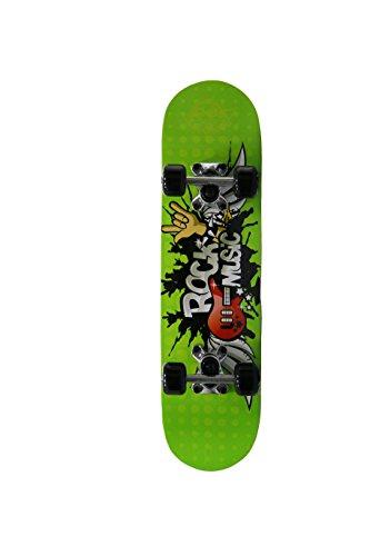 skateboard junior Skate-Max Skateboard Junior Tavola in Legno truck in alluminio (Rock Music dai 5 ai 7 anni)