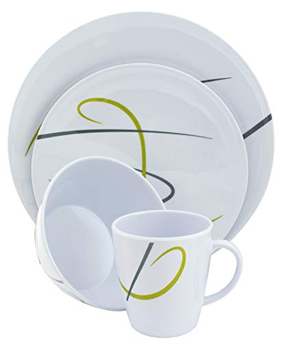 Euro Trail Melamin Table ware Vienna 16 pieces special anti-slip ring New!!