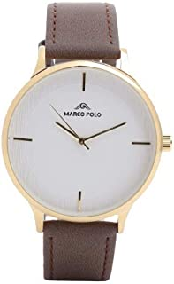 Formal watches for men, Marco polo The color is golden brown