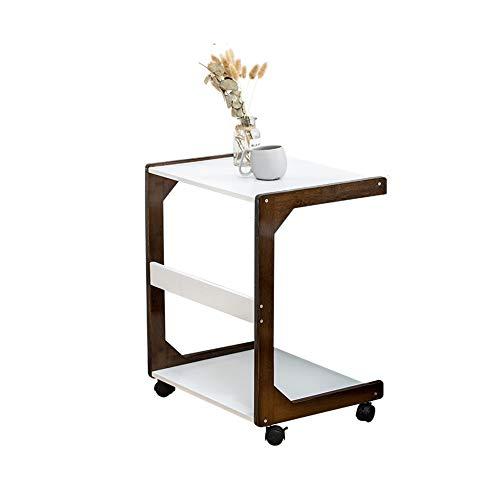 KAISIMYS Tavolino da Divano,Tavolino Laterale da Divano Stile Moderno, Struttura A C, Struttura in Legno Massello Stabile e Semplice