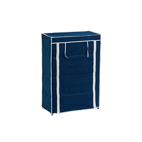 Mueble Zapatero de Tela Azul con 5 baldas Moderno para baño Vitta - LOLAhome