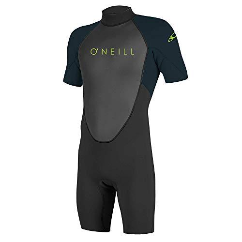O'Neill Jungen Reactor II 2mm Back Zip Spring Wetsuit Neoprenanzug, Black/Slate, 10