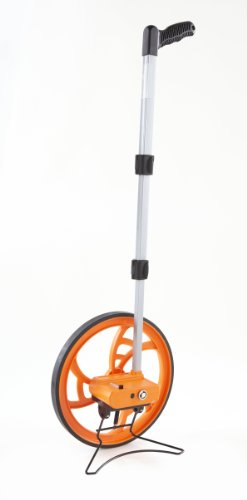 Keson RR318N Contractor Grade Measuring Wheel, Ft. & In., Ft. & In., 12-1/2-Inch Diameter, Orange, Large - Circumference: 3 ft
