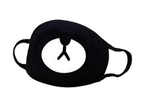 VRITRAZ Glow in the dark luminous Unisex Cotton Blend Anti Dust, Pollution Face Mouth Mask Black for Men Women Bear