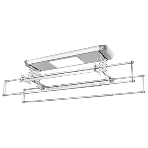 Elektrisch wasrek opkrikkende balkon-automatische droogmachine-binnenbediening, standnaalderpalen voor verlichting