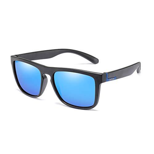 Polarized Square Driving Sunglasses Women Men Classic TR90 Unbreakable Glasses Long Keeper (Blue)