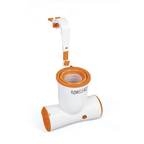 Bestway Flowclear Skimatic, 2-in-1 Filterpumpe und Einhängeskimmer 3.974 l/h für Gartenpools, schlauchlose Poolreinigung inklusive Filterkartusche
