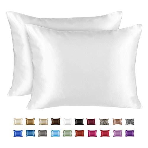King Satin Pillowcase with Zipper, White (Pillowcase Set of 2) $10.94(64% Off)