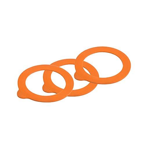 Kilner Standard - Juntas de goma para tarros (6 unidades), naranja