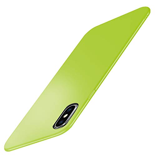 Beryerbi Custodia Compatibile con iPhone XS Max,Ultra Sottile Hard PC 360 Gradi Resistente Bumper Protettiva Cover Custodia per Apple iPhone Xr (iPhone XS Max, Verde chiaro)