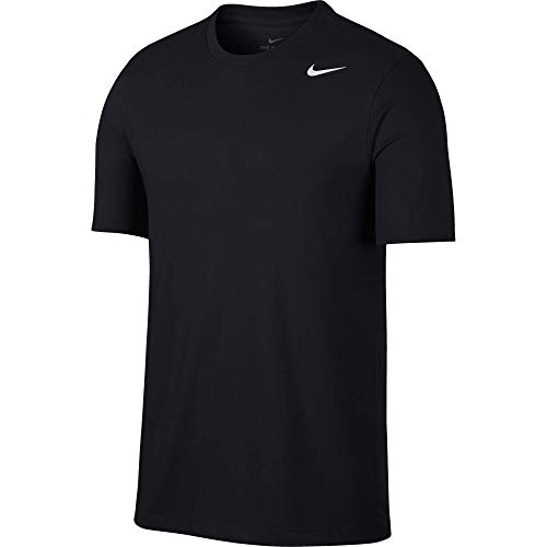Nike Herren M NK Dry Tee DFC Crew SOLID T-Shirt, Black/(White), L