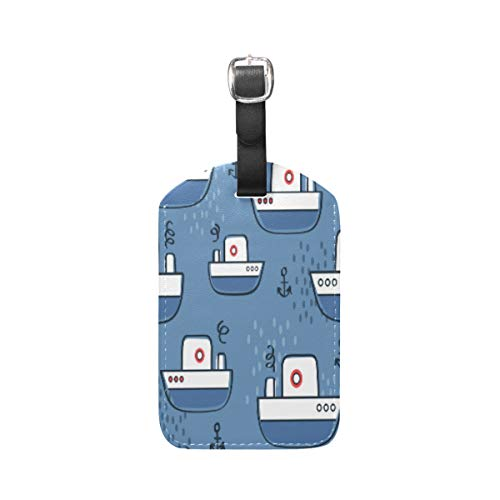 Moyyo Sea Anchors Boats Luggage Tag Suitcase Tags Leather Travel Baggage Luggage Identify ID Tags Labels for Suitcases Luggage Tags with Privacy Cover
